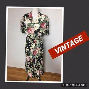 Vintage Carol Anderson Floral Ltd Ed Dress 18W